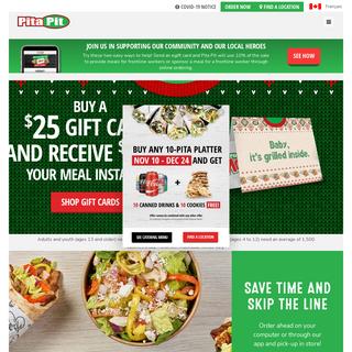 Pita Pit Canada- Fresh Thinking, Healthy Eating