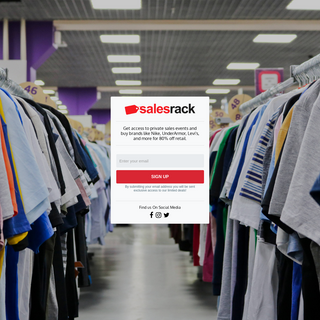 SalesRack.com - Limited Clothing Events
