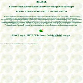 bhod Besteckverleih Haubenspülmaschine Osmoseanlage Dienstleistungen Spülmobil Verleih Geschirrmobil Mieten