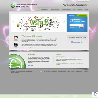 WebSite.ws – Your Internet Address for Life