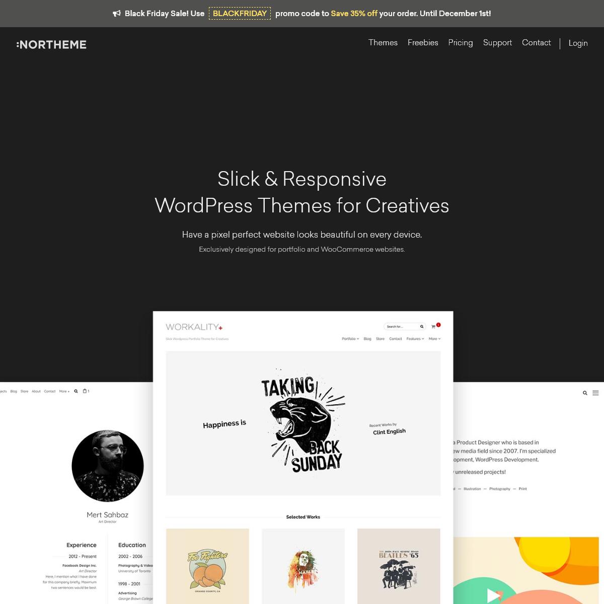 Slick & Responsive WordPress Themes for Creatives - Northeme