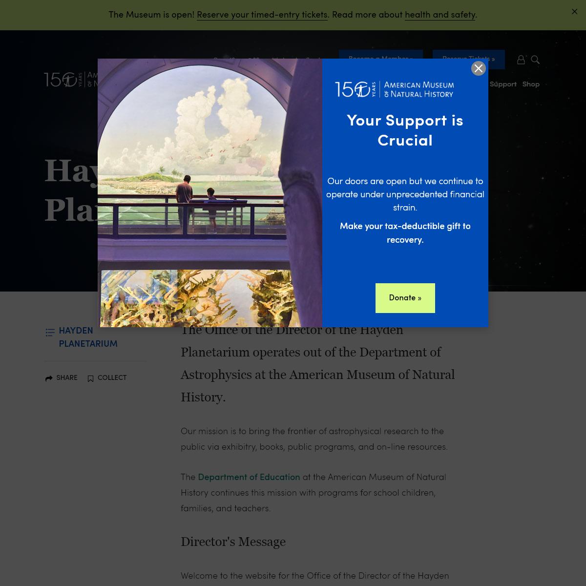Hayden Planetarium- Astrophysics Brought to Life - AMNH
