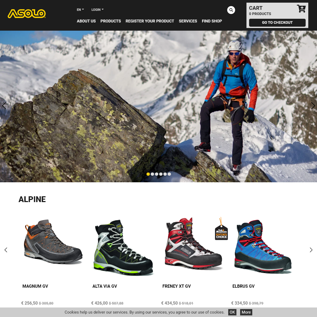 Asolo Official Site. Trekking shoes. Hiking boots. Mountain shoe