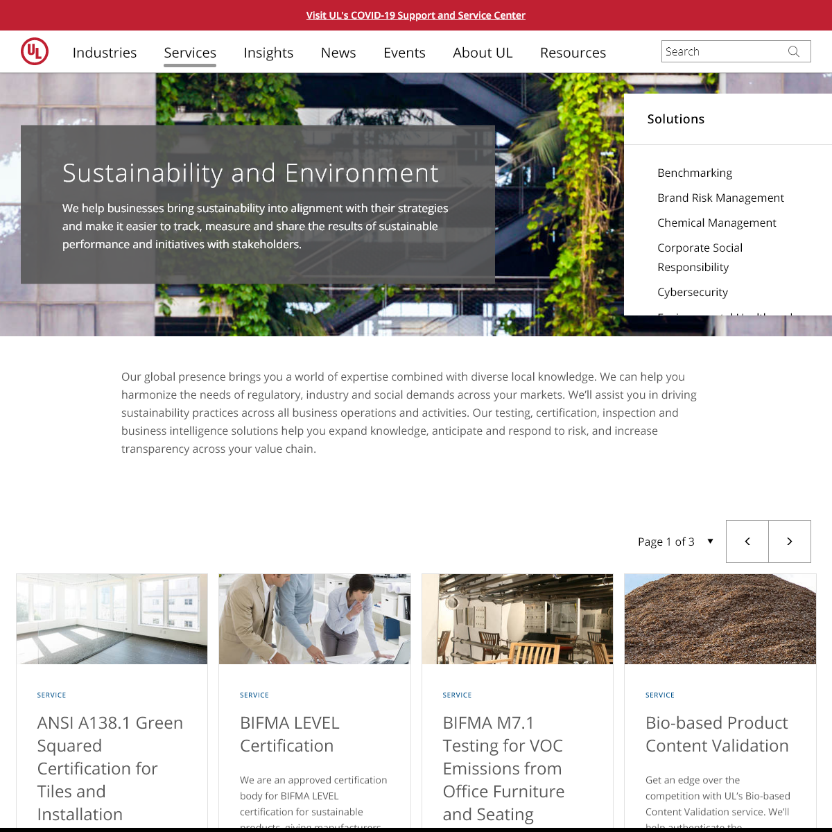 Sustainability and Environment - UL