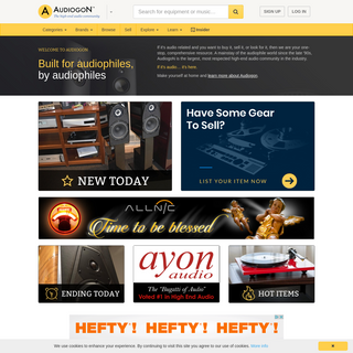 Buy and Sell High-end Audio Equipment or Music on Audiogon - Audiogon