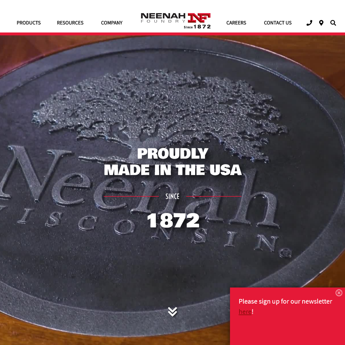 Neenah Foundry - Metal castings proudly made in the USA