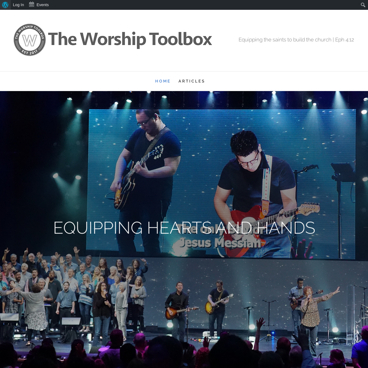 The Worship Toolbox – Equipping the saints to build the church.