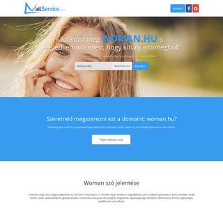 Ingyenes emailcím woman.hu domainnel - MailService.com