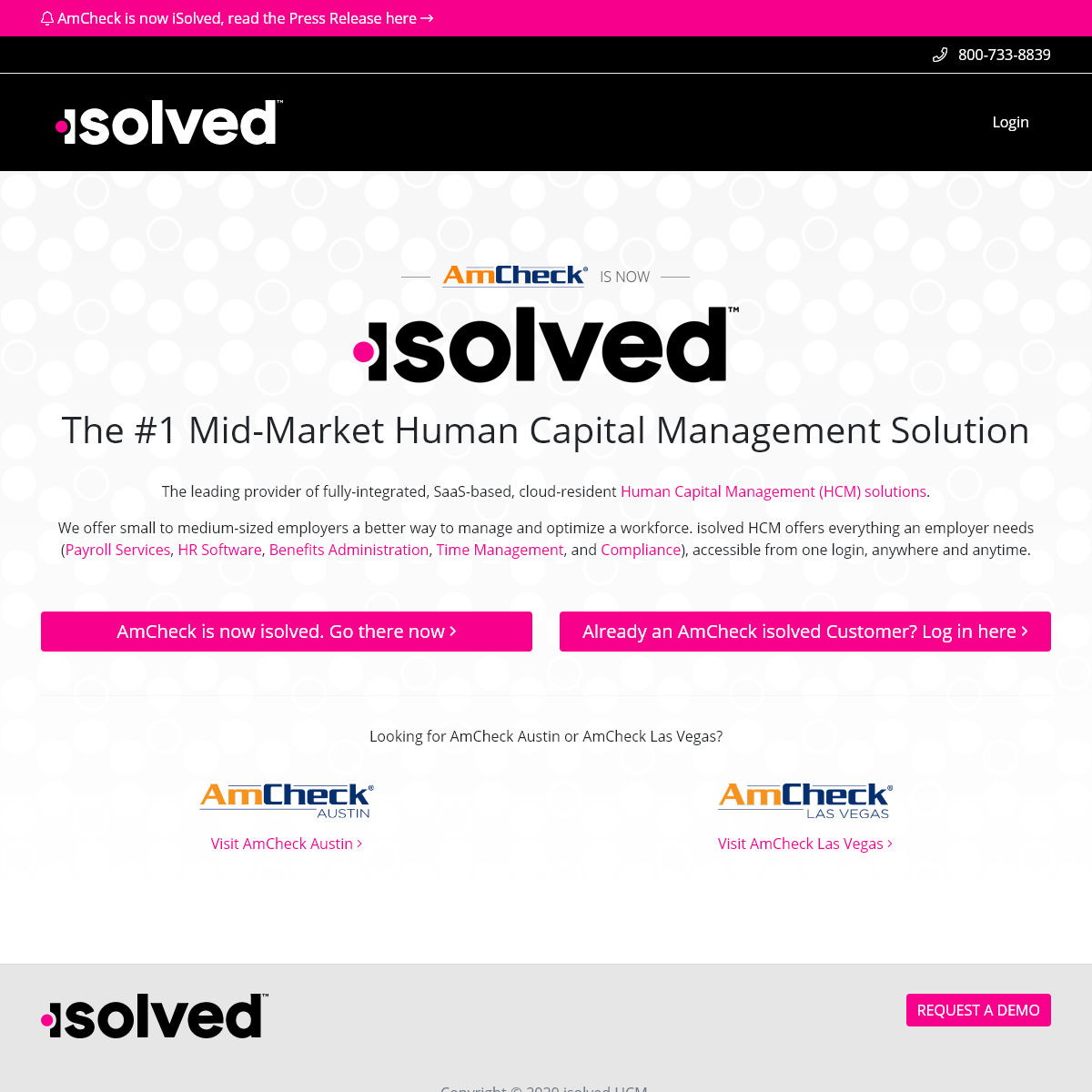 AmCheck is now isolved - Payroll, HR and Benefits