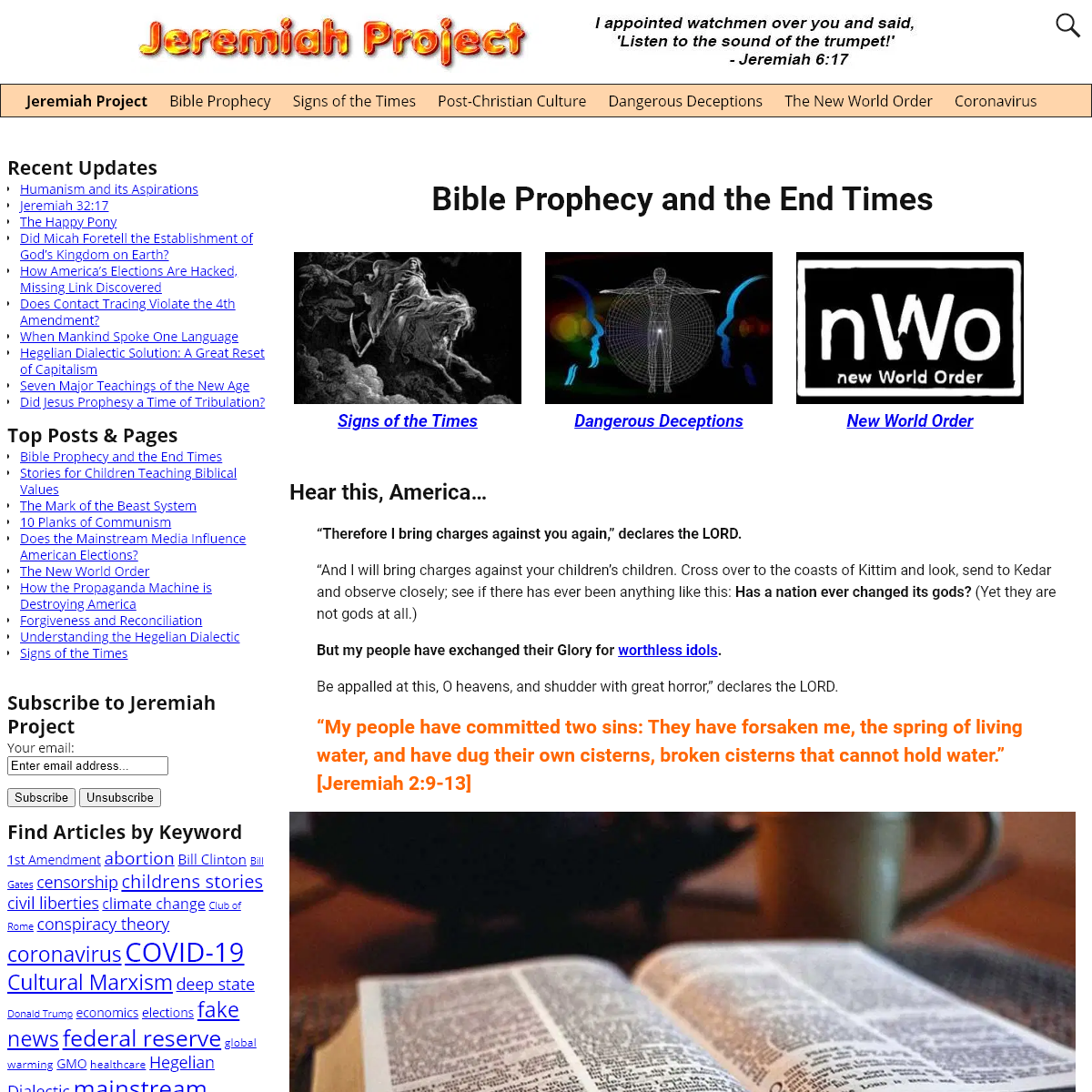 Bible Prophecy and the End Times - Jeremiah Project
