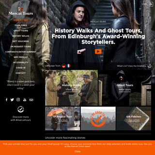 Edinburgh ghost and history walking tours - Mercat Tours