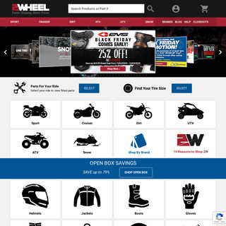 Powersports Gear, Tires, Parts and Accessories - 2Wheel