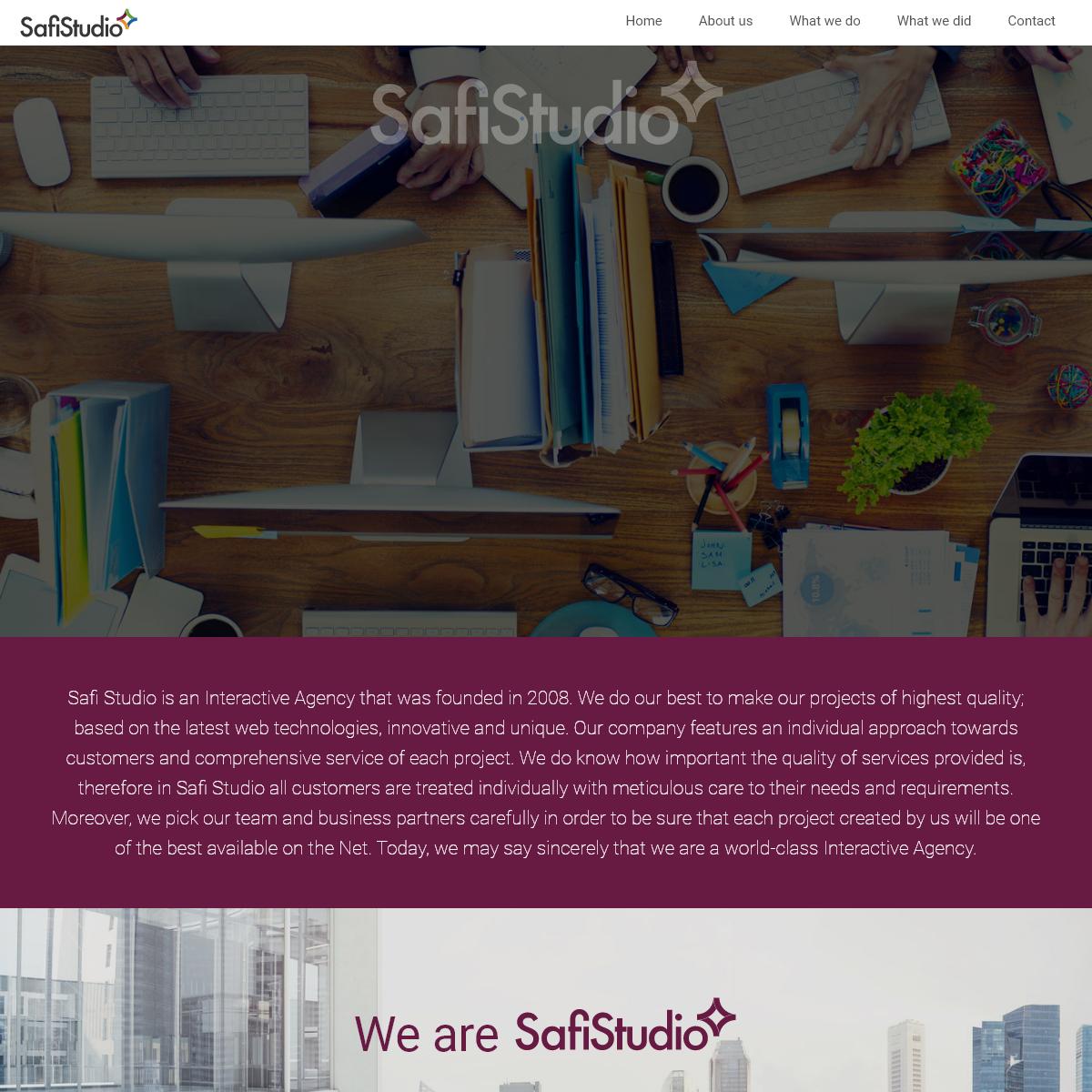 Safi Studio - websites on the highest level