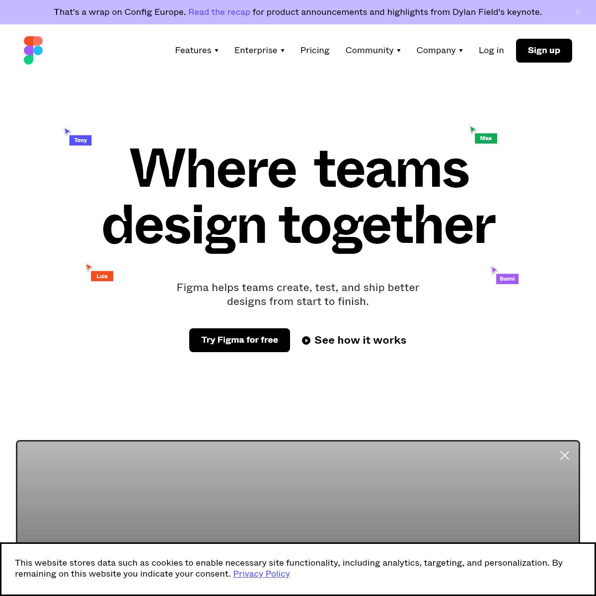Figma- the collaborative interface design tool.