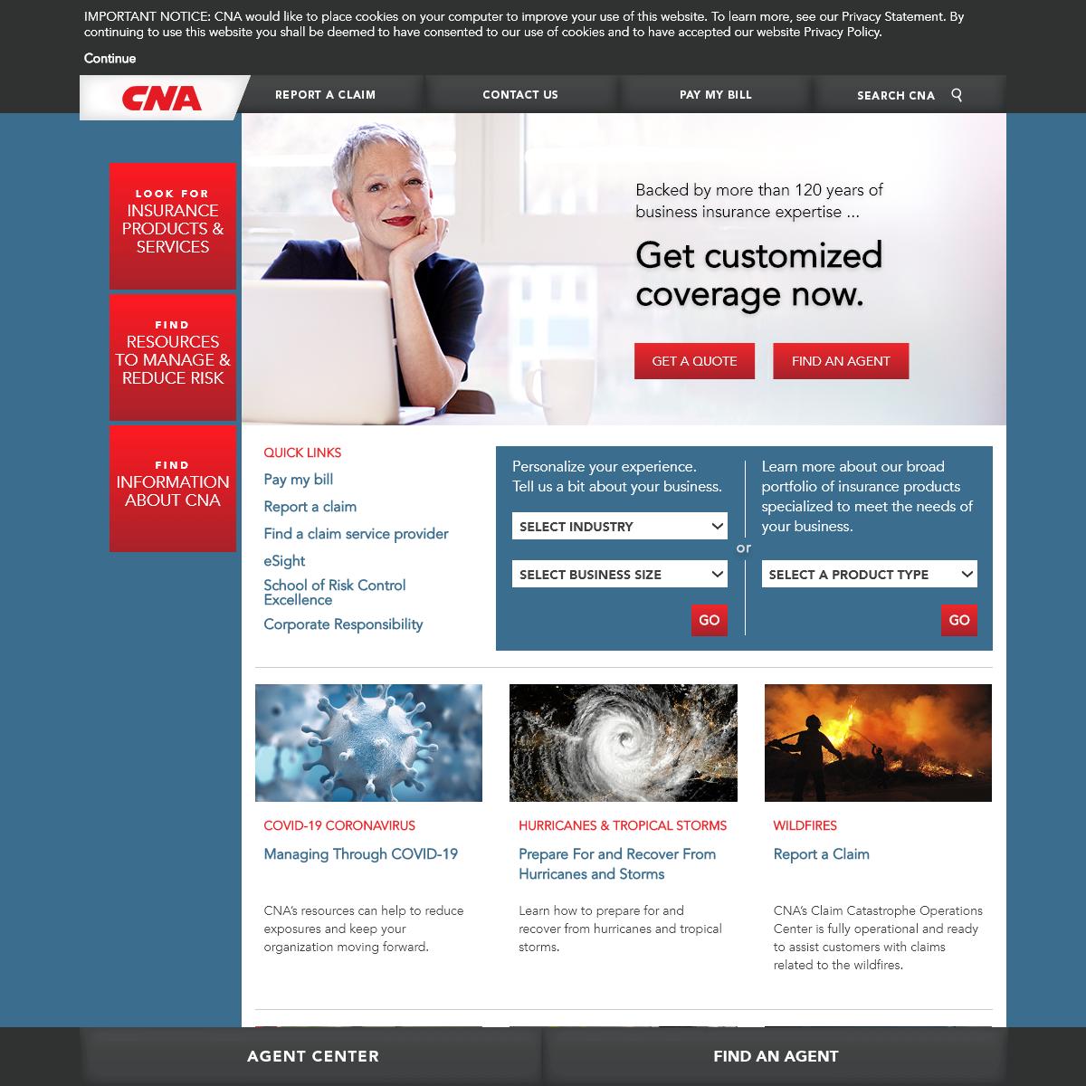 Customized Business Insurance - CNA Insurance
