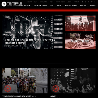 Temple Night Club - Private Event Space & Electronic Dance Music San Francisco