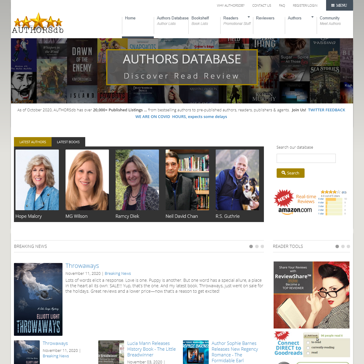 AUTHORSdb - AUTHORSdb- Author Database, Books and Top Charts