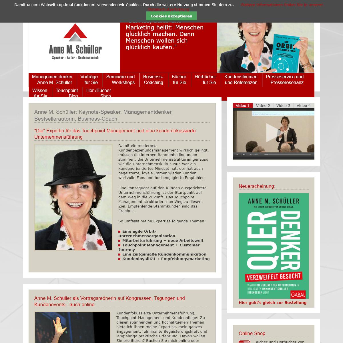 Anne M. Schüller - Anne Schüller Website