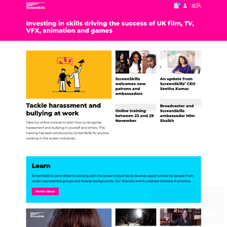 Careers, jobs and skills training in film, TV, VFX, animation and games - ScreenSkills
