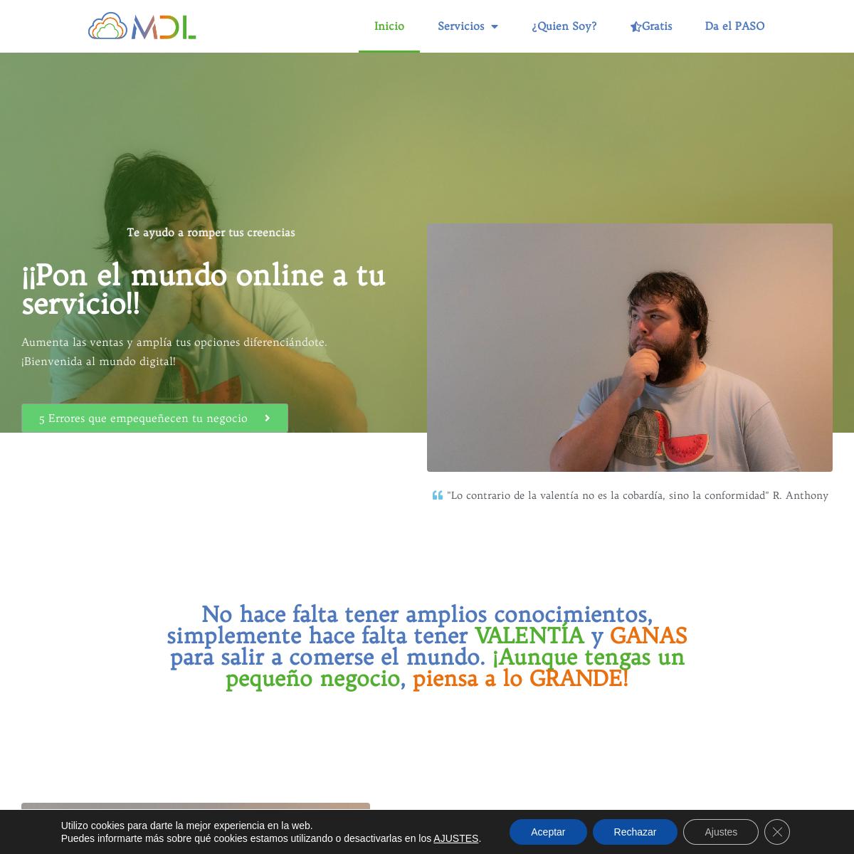 Soporte Online para VALIENTES - Mikel de Luis .Com