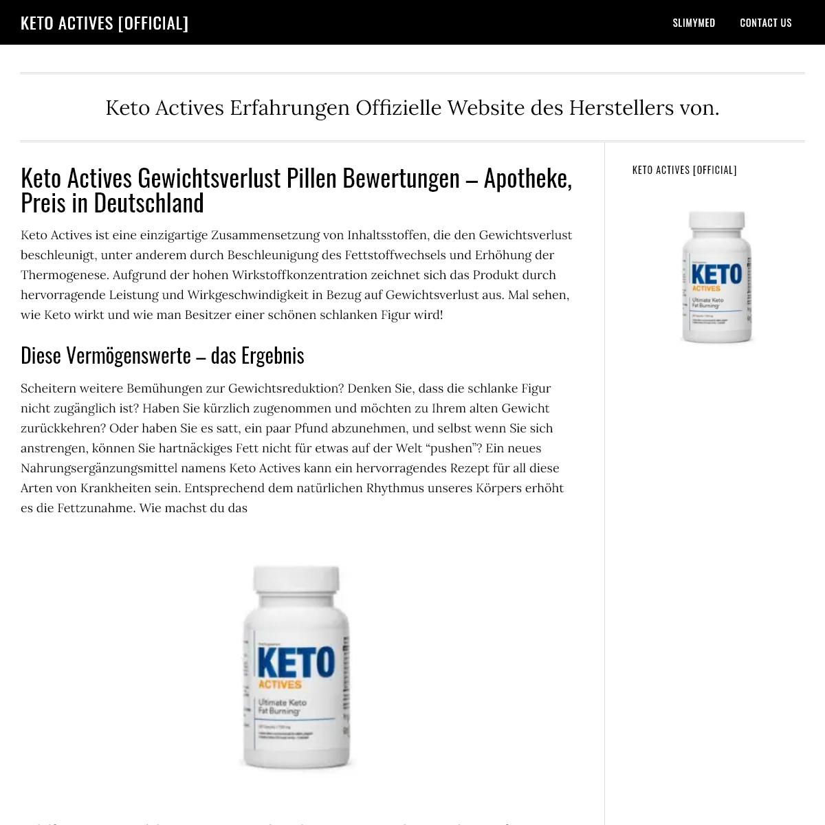 Keto Actives Gewichtsverlust Pillen Bewertungen - Apotheke,