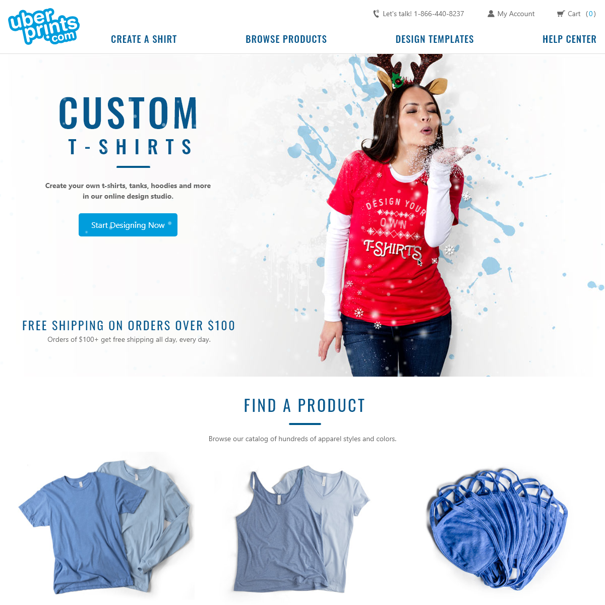 Custom T-Shirts - Design Your Own T Shirts at UberPrints