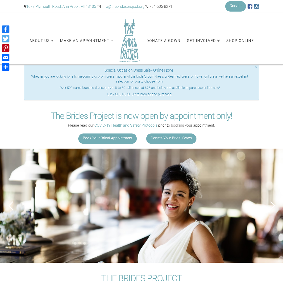 The Brides Project - Donate. Buy. Support.