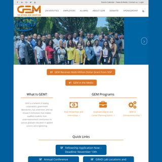 The National GEM Consortium - The National GEM Consortium - GEM Fellowship Program