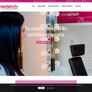 Centro integral estética avanzada en Vigo, Nuria Bello