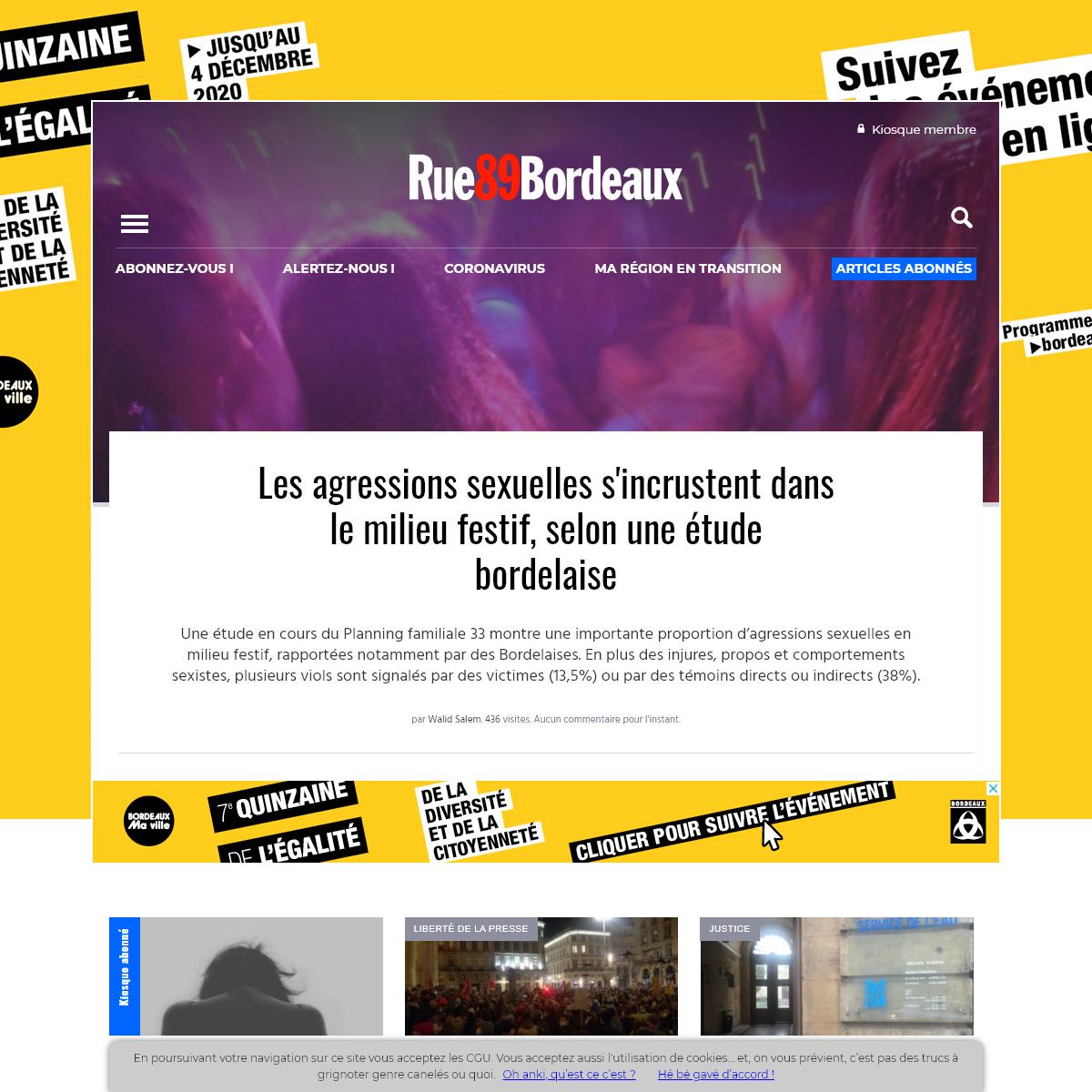 Rue89 Bordeaux - Infos et enquêtes à Bordeaux et sa métropole