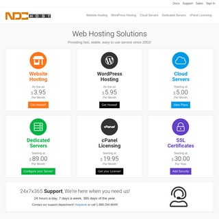 The Best in Web Hosting