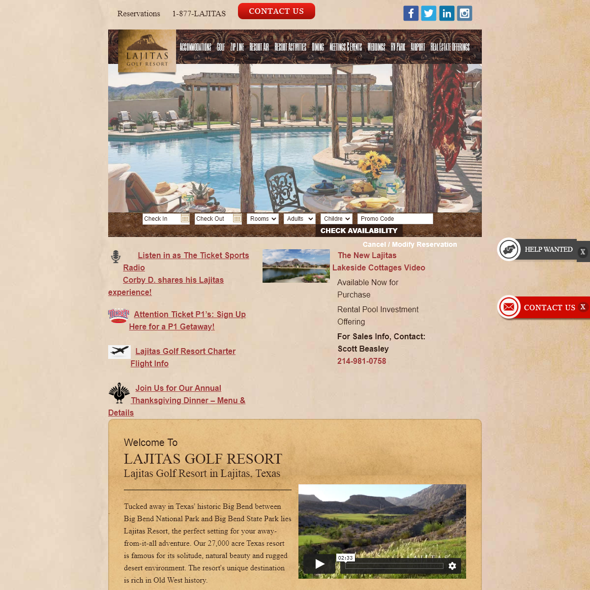 Lajitas Golf Resort and Spa, A 4-star hotel in Lajitas, Texas