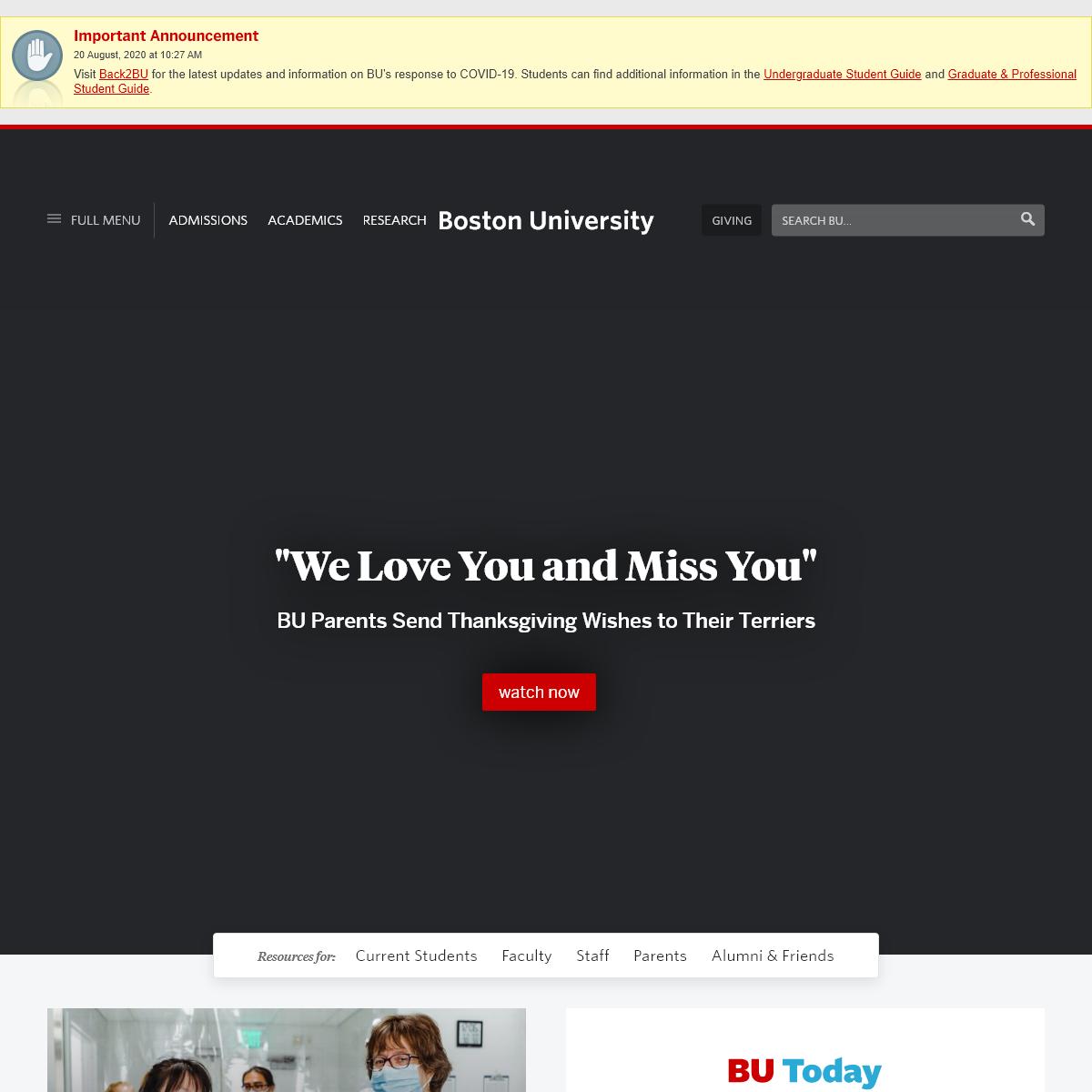 Homepage - Boston University