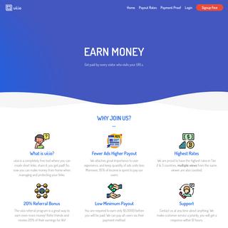 uii.io - Earn money on shorten links. Make short links and earn the biggest money.