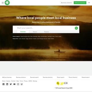 Canada`s Local Search Engine - 411.ca