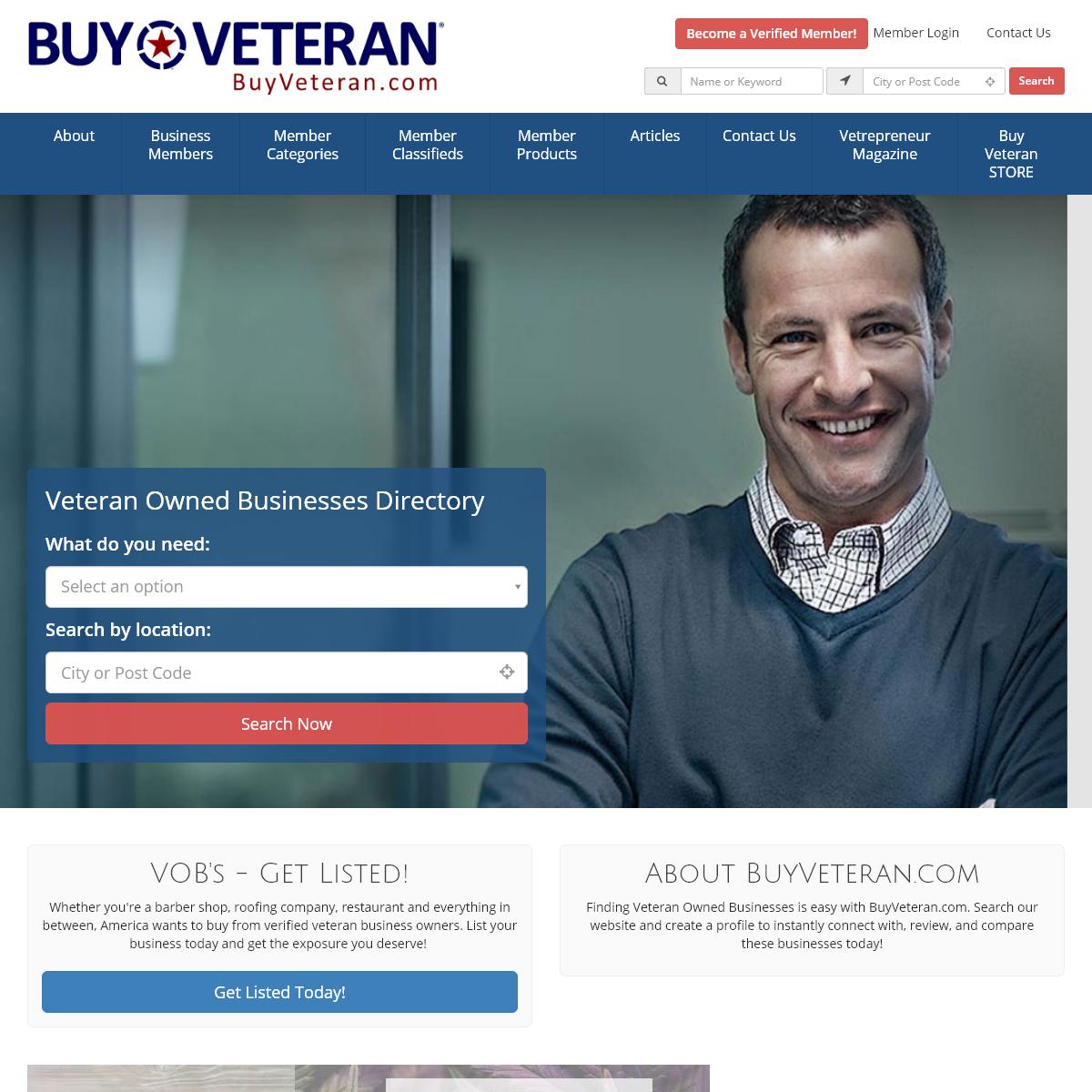 Find Veteran Owned Businesses - BuyVeteran.com