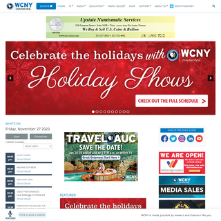 Member Supported Public Television, Radio - PBS - WCNY