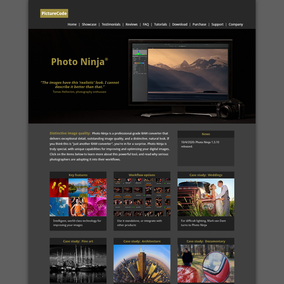 PictureCode home page- Photo Ninja