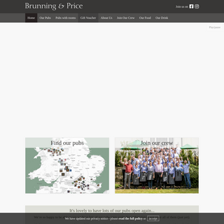 Home - Brunning & Price Limited