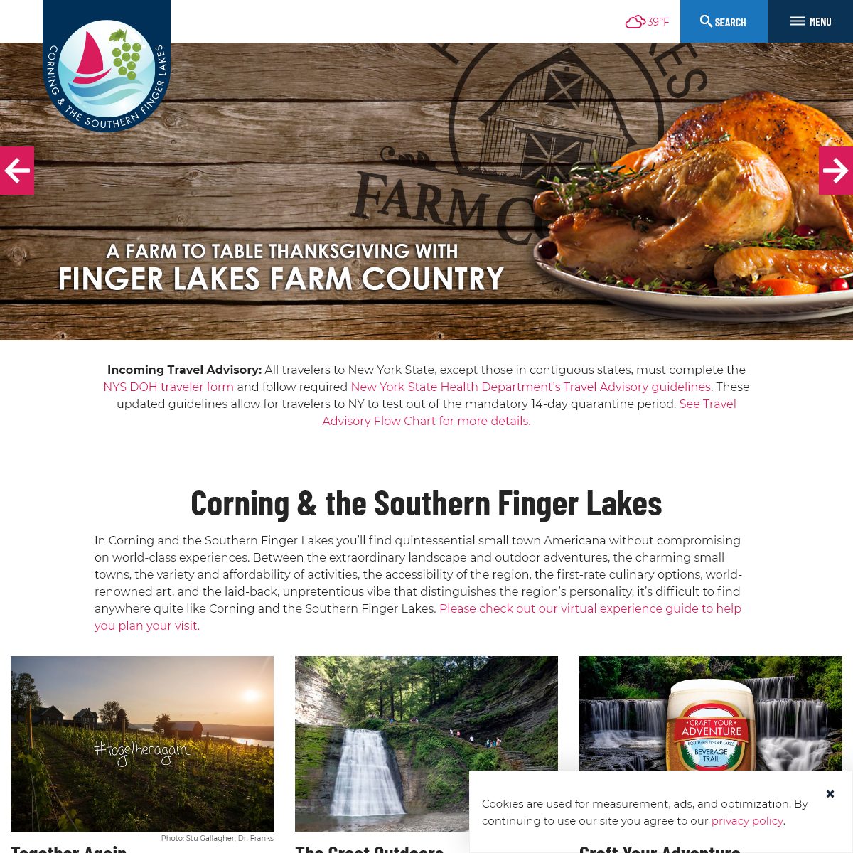 Corning & the Southern Finger Lakes Official Vacation Planner