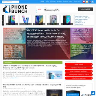Phone Comparison, News, Specs, Reviews - PhoneBunch