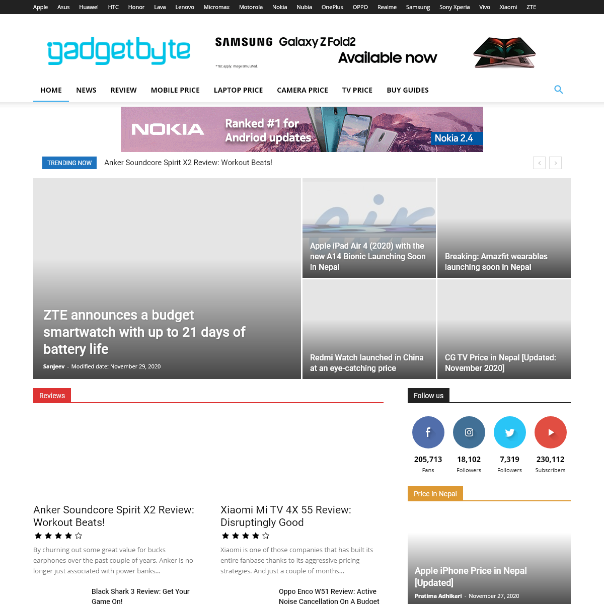 Gadgetbyte-Latest tech news, gadget reviews & mobile price in Nepal