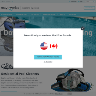 Dolphin Robotic Swimming Pool Cleaner - Maytronics
