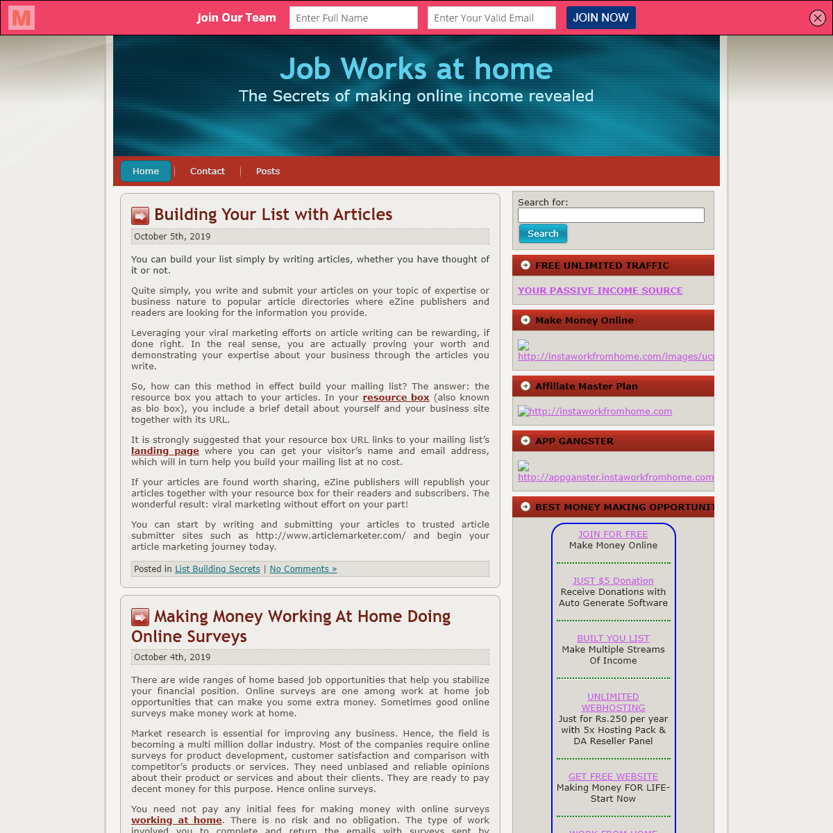 Job Works at home