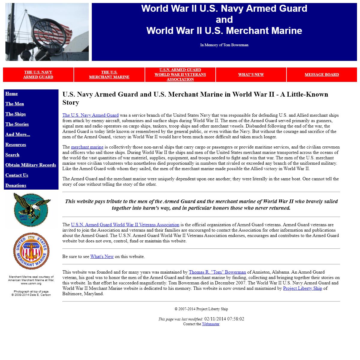 World War II US Navy Armed Guard and World War II US Merchant Marine