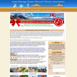 Anza-Borrego Desert Natural History Association, Borrego Springs- Guide to Anza-Borrego Desert State Park, wildflowers, hiking,