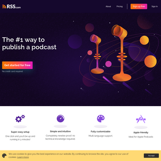 RSS Podcast Hosting - Set Up Your Podcast in Less Than 3 Minutes - RSS Podcasting