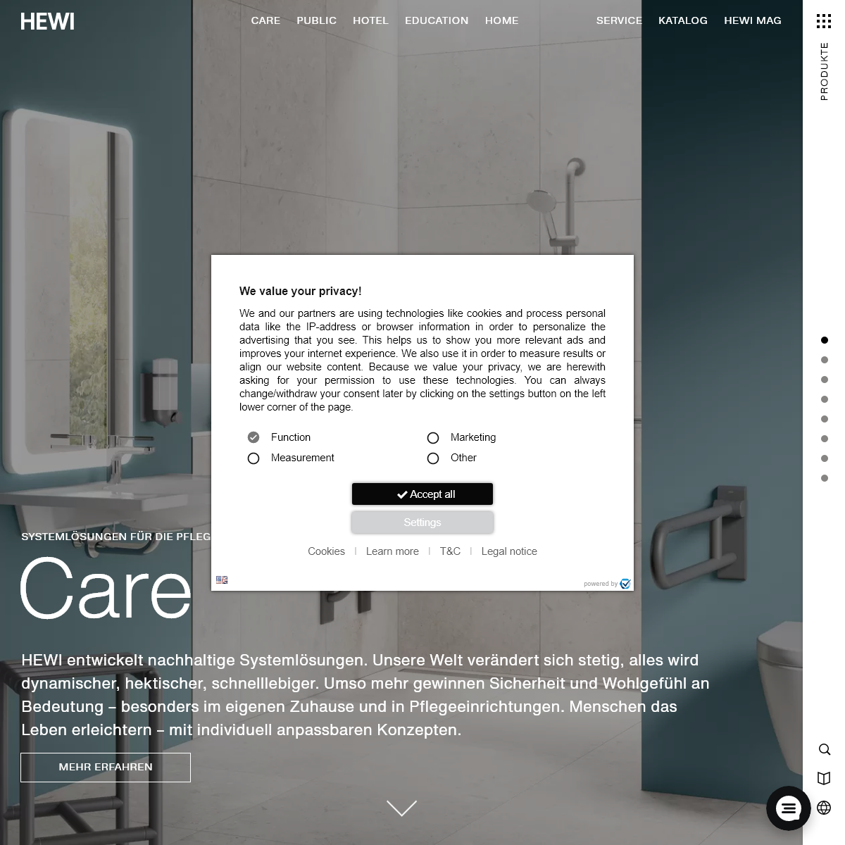 Willkommen bei HEWI - Sanitär- und Beschlagslösungen online finden - HEWI
