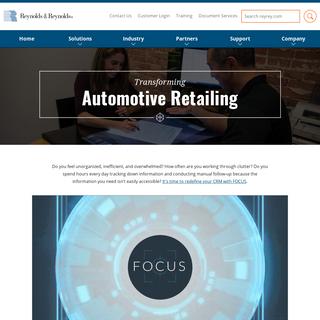 Automotive Retailing - Reynolds and Reynolds