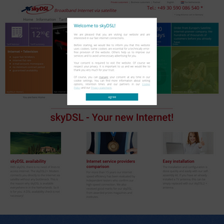 skyDSL, Internet Provider via Satellite (ISP) - The Netherlands